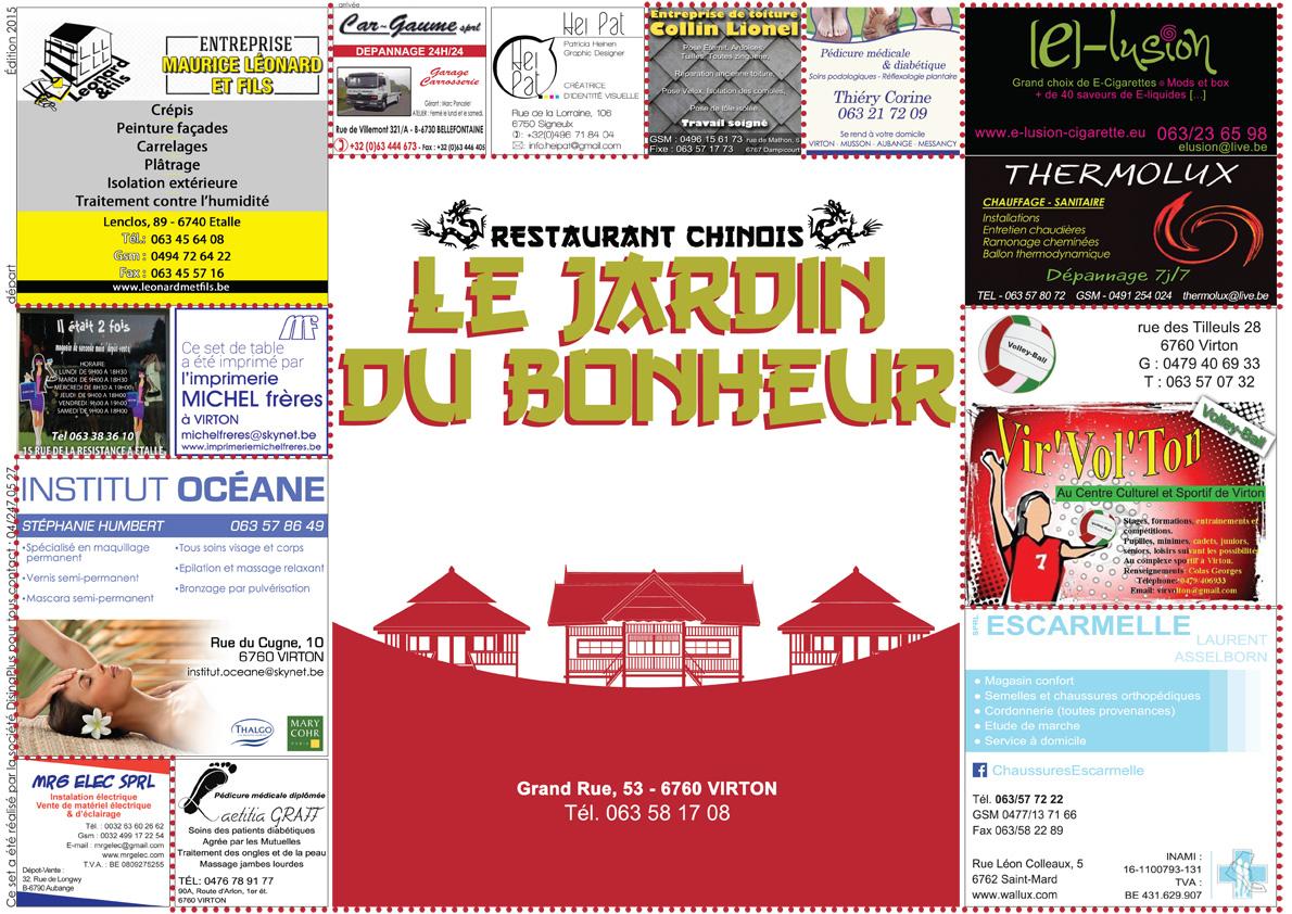 Le jardin du bonheur virton dising plus for Jardin bonheur 2015